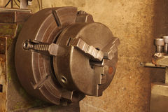 Part of the old lathe. Royalty Free Stock Images