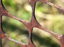 Rusty metal fence Royalty Free Stock Image