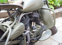 A part of old motorbike with selective focus Royalty Free Stock Images