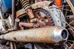 Part of old motorcycle Royalty Free Stock Photo