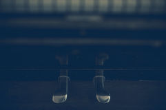 Part of the old piano in vintage style. Royalty Free Stock Photo