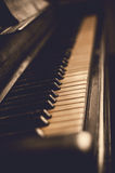 Part of the old piano in vintage style. Royalty Free Stock Photography