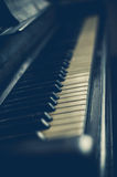 Part of the old piano in vintage style. Stock Photography