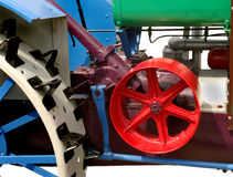 Part of an old restored mechanism Stock Image