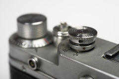 Part of old retro camera copy of leica Royalty Free Stock Photos
