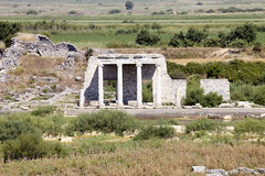 The part of old ruins  Milet, Turkay Royalty Free Stock Photo