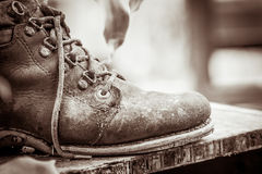 Part of a old shoes, image of vintage style Stock Photo