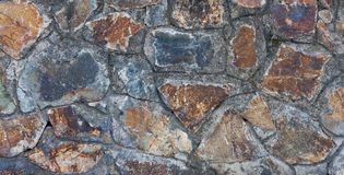 Part of old stone wall close-up Royalty Free Stock Images
