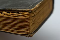 Part of the old tattered books with yellowed pages Royalty Free Stock Photos