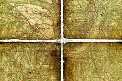 Part of an old tourist map. Stock Images