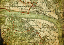 Part of an old tourist map. Royalty Free Stock Photography