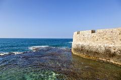 Wall above the Sea Stock Photography