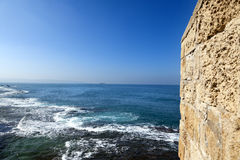 Wall above the Sea Royalty Free Stock Photography