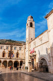 Part of Old Town of Dubrovnik, a UNESCO's World Heritage Site Stock Photos