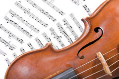 Part of an old violin Royalty Free Stock Photography