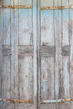 Part of an old weathered door Stock Photos