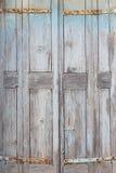 Part of an old weathered door Stock Photos