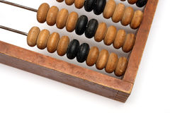 Part of old wooden abacus Royalty Free Stock Photography