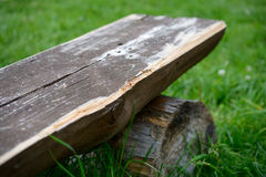 Part of old wooden bench Stock Photos