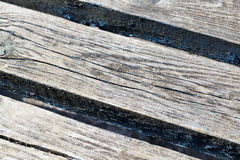 Part of the old wooden benches Stock Images