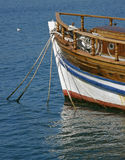Part of the old wooden  boat Stock Photos