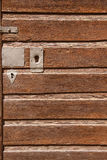 Part of an old wooden door. Background Stock Photography