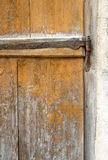 Part of an old a wooden door. Background Stock Photos
