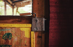 Part of an Old Wooden Door Royalty Free Stock Image