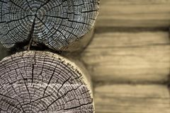 Part of an old wooden wall closeup beige color Stock Image