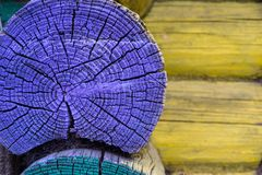 Part of an old wooden wall closeup Royalty Free Stock Images