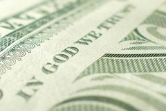 Part of One Dollar Bill Macro Royalty Free Stock Images