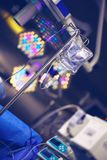 Part of operating room interior during surgery.  stock photos