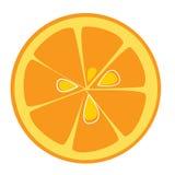 Part orange Images libres de droits
