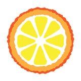 Part orange illustration libre de droits