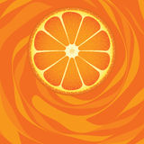 Part orange de fruit Photographie stock libre de droits