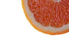 Part of orange slice. Isolated slice of orange Royalty Free Stock Photos
