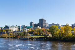 Part of the Ottawa Skyline during the day Stock Photo