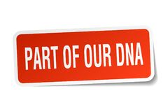 Part of our dna sticker Stock Image