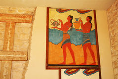 Part of palace in Knossos Royalty Free Stock Photo