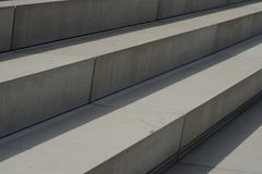 Modern architecture in shape of stairs Royalty Free Stock Photography