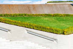 Part of park near Heydar Aliyev Center Museum in Baku Royalty Free Stock Photo