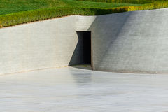 Part of park near Heydar Aliyev Center Museum in Baku Stock Image