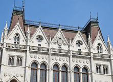 Part of the parliament building, Budapest Stock Image