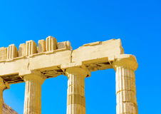 A part of Parthenon Royalty Free Stock Photo