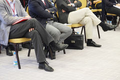 part of people listening to the acting in a conference hall Stock Photography