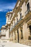 Part of Piazza del Duomo, Syracuse, Sicily, Italy Royalty Free Stock Photo