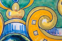 Part of a picture on a ceramic tile background royalty free stock photo