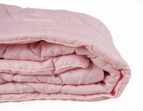 Part of pink blanket isolated on white background Stock Photography