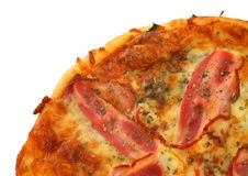 Part of pizza Royalty Free Stock Photo