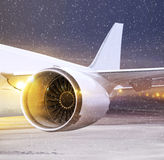 Part of plane at non-flying weather Royalty Free Stock Photos